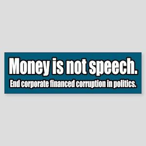 End Corporate Political Corruption Bumper Sticker