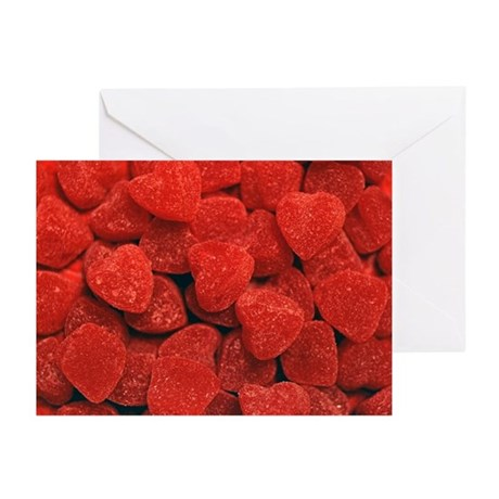 Red Gumdrop Hearts Greeting Cards (Pk of 20)