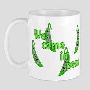 We Come In Peas Mug