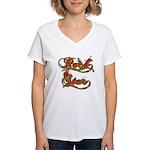 Rock Star Climber Women's V-Neck T-Shirt