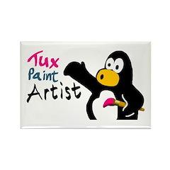 Tux Paint Artists rectangle magnet