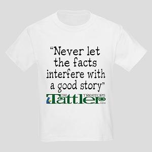 Never Let the Facts... (Shoe) Kids Light T-Shirt