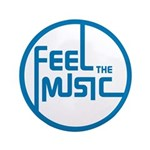 """Feel the Music! 3.5"""" Button"""