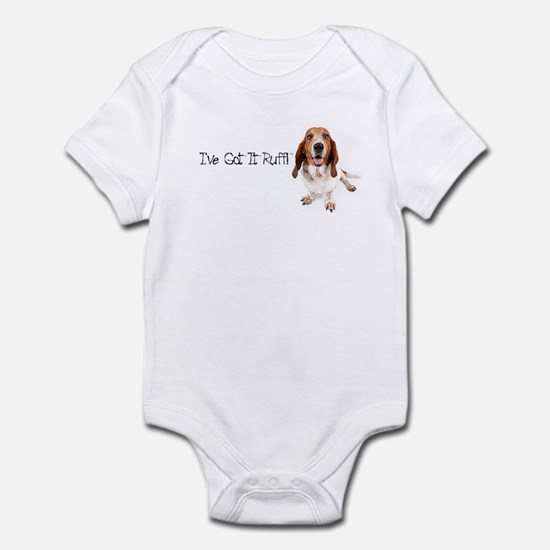 Basset Got It Ruff Infant Bodysuit