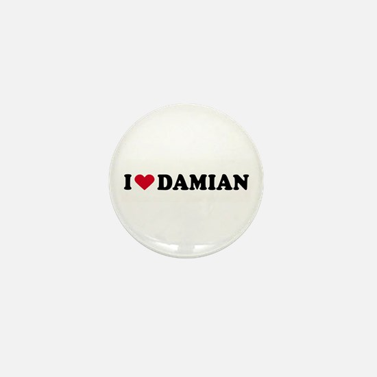 I LOVE DAMIAN ~ Mini Button