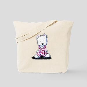 Valentine PJs Westie Tote Bag