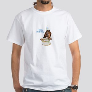 Basset Birthday White T-Shirt