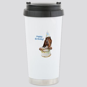 Basset Birthday Stainless Steel Travel Mug