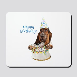 Basset Birthday Mousepad