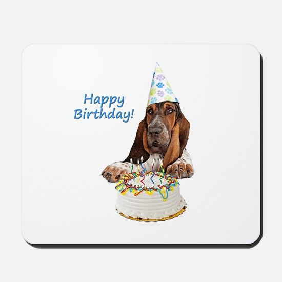 Basset Birthday Mousepad