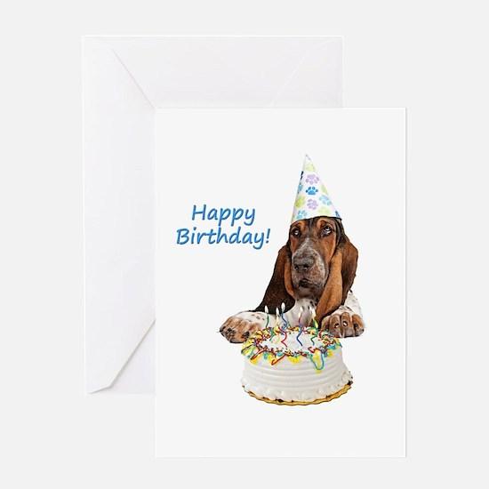 Basset Birthday Greeting Card