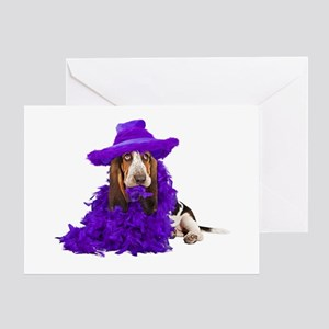 Basset Dress Up Greeting Card