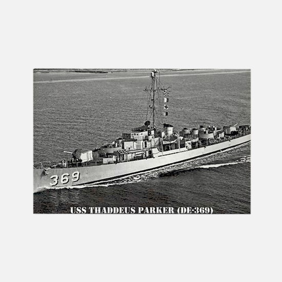 USS THADDEUS PARKER Rectangle Magnet