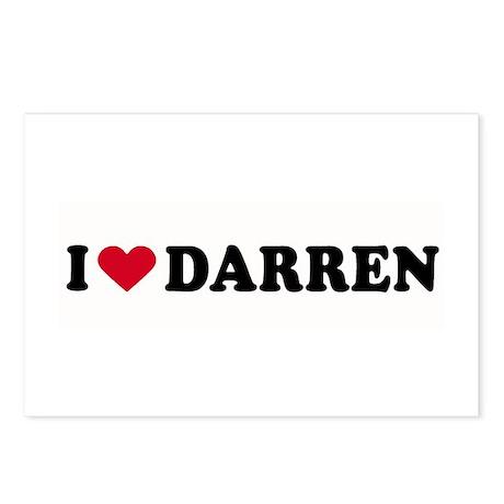 I LOVE DARREN ~ Postcards (Package of 8)