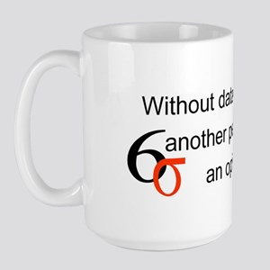 Without Data Large Mug