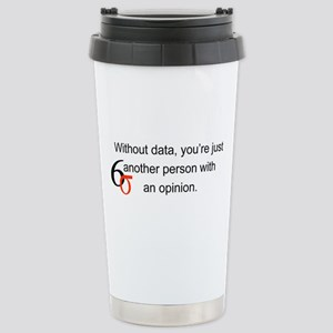 Without Data Stainless Steel Travel Mug