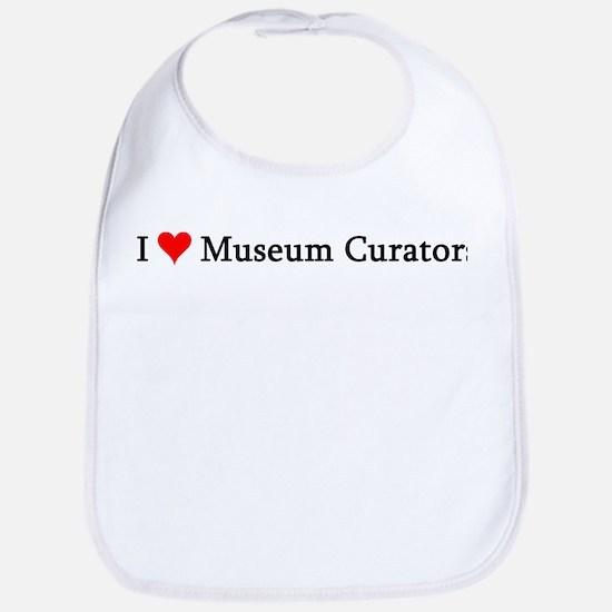 I Love Museum Curators Bib