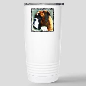 Military boxer dog Stainless Steel Travel Mug