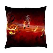 Hot Music Notes Everyday Pillow
