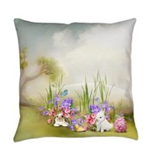 Easter Bunnies Everyday Pillow