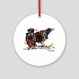 Raven Trio Round Ornament