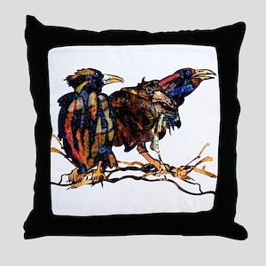 Raven Trio Throw Pillow