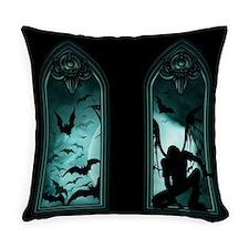 Gothic Bat Windows Everyday Pillow