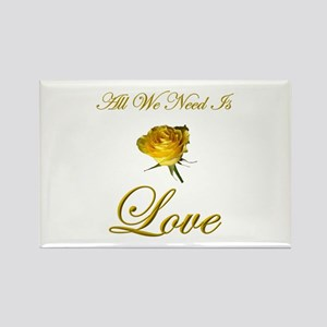 All We Need Is Love Rectangle Magnet