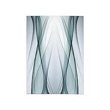 Aqua Abstract 5'x7'area Rug