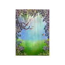 Purple Wisteria Springtime 5'x7'area Rug