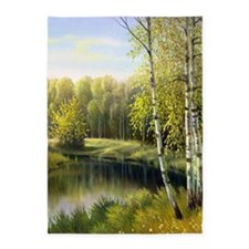 Beautiful Spring Painting 5'x7'area Rug