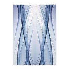 Blue Aqua Abstract 5'x7'area Rug