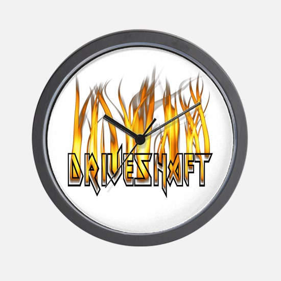Drive Shaft Logo in Flames Wall Clock