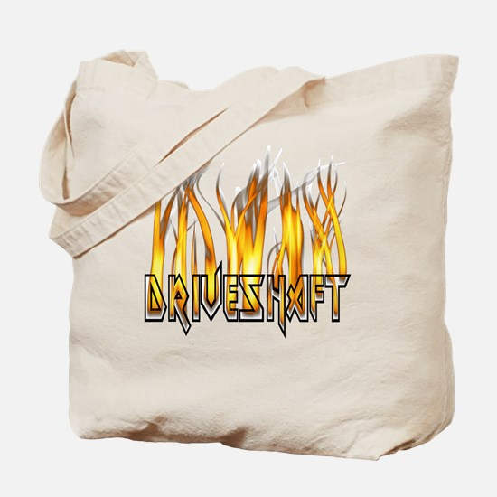 Drive Shaft Logo in Flames Tote Bag