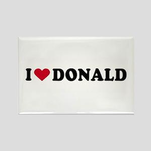 I LOVE DONALD ~ Rectangle Magnet