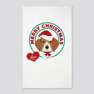 Beagle Christmas` Area Rug