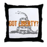 Got Liberty Rattlesnake Throw Pillow