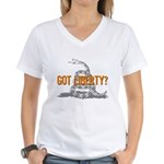 Got Liberty Rattlesnake Women's V-Neck T-Shirt