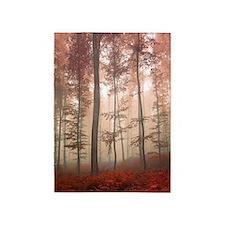 Misty Autumn Forest 5'x7'area Rug