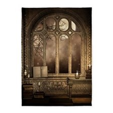 Gothic Library Window 5'x7'area Rug