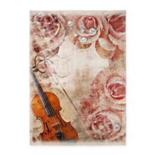 Romantic Violin 5'x7'area Rug