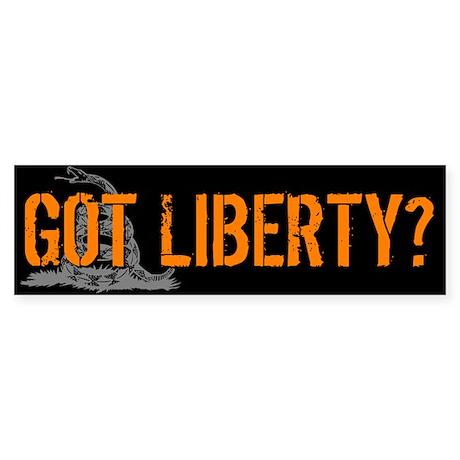 Got Liberty Rattlesnake Bumper Sticker