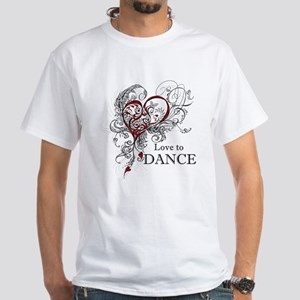 Love to Dance White T-Shirt