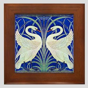 THE SWANS Framed Tile