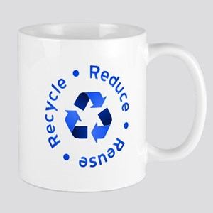 Blue Reduce Reuse Recycle Mug