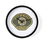 Norco California Police Wall Clock