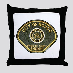 Norco California Police Throw Pillow