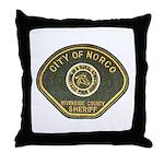 Norco California Police Throw Pillow