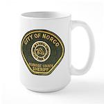 Norco California Police Large Mug