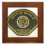 Norco California Police Framed Tile